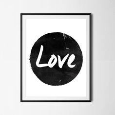 Poster Abstract Love Circle Modern Minimalist by PaperLoveGraphics Minimalist Poster, Modern Minimalist, Love Posters, Love Art, Office Decor, Modern Art, Scandinavian, Diy Home Decor, Abstract Art