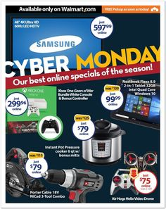 Walmart Cyber Monday Deals List - With Links! - http://www.pinchingyourpennies.com/walmart-cyber-monday-deals-list/ #Cybermonday, #Walmart