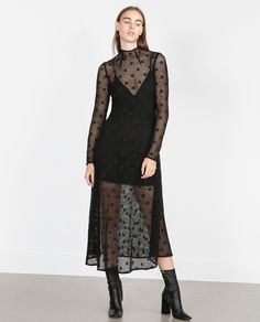 LONG CROCHET DRESS - View all - Dresses - WOMAN | ZARA United States