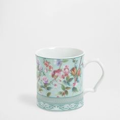 MUG PORCELAINE NATURE BLEU TURQUOISE - Mugs - Table | Zara Home France