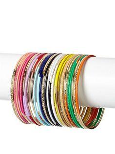 60% OFF Helene Multi-Colored Contrast Bangles