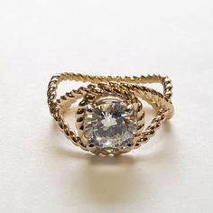 Classic Rope Engagement Ring by RubensJewelry on Etsy
