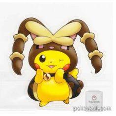 Centro Pokemon Pikachu Poncho 2016 Campaña # 2 engomada grande Mega Lopunny