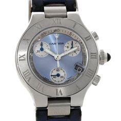 7978 Cartier Must 21 Chronoscaph Ladies Watch W1020013 SwissWatchExpo