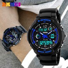 2016 Men Quartz Digital Watch Men Sports Watches Relogio Masculino SKMEI S Shock Relojes LED Military Waterproof Wristwatches WOW  #shop #beauty #Woman's fashion #Products #Watch