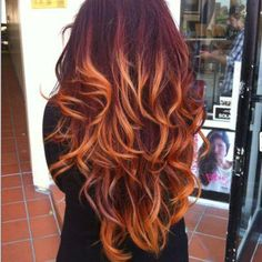 Beautiful fire ombre color definitly doing this :)