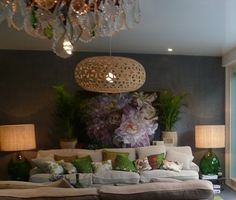 Art in living room with pretty pink, green and linen Living Room Art, Home And Living, Living Spaces, Starter Home, Interior Decorating, Interior Design, Eclectic Decor, Creative Home, Decoration