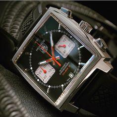 TAG Heuer Monaco Calibre 12 Black McQueen by @mikaruottinen #tagheuer #tagheuermonaco #monaco #calibre11