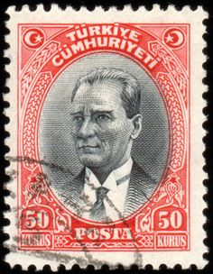 Türk PullarıAtatürk pulu (1930) Rare Stamps, Vintage Stamps, Abou Dabi, Sharjah, Empire Ottoman, Art With Meaning, Simple Photo, Orient, Stamp Collecting
