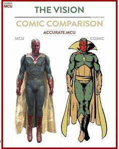 Vision, comic book vs. MCU movie, film, comics, comic books, comic book movies, Marvel comics