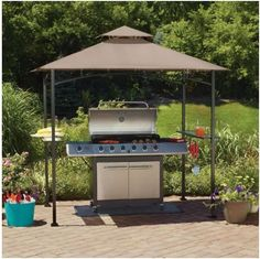 Grill Gazebo Counter-top Canopy Outdoor Patio Garden Rain Sun Heat Shade Cover   - Grill Gazebo turns your yard into perfect place for a bbq. With a vented fire-retardant tent that allows smoke to easily escape without letting in the sun or rain, it is the ultimate outdoor barbeque accessory.