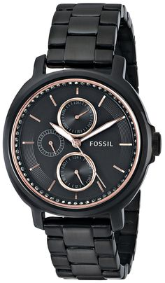 Fossil Women's ES3451 Chelsey Multifunction Black Stainless Steel Watch
