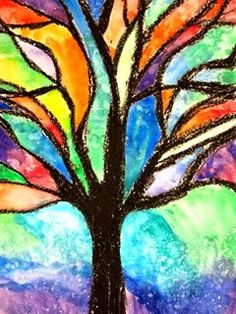 Painting trees using analogous colors
