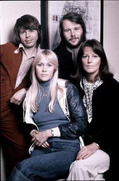 Swedish pop group ABBA in Stockholm April 1976