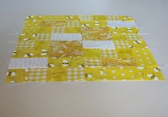 """A traditional pattern called """"Steps to Glory.""""  Pieced by Pam Wilson in July 2014, incorporating gingham and other fabrics from the stash of my aunt Johanna Wackerle Tanner."""
