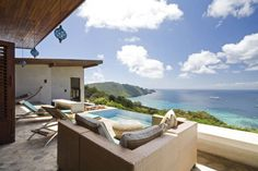 Vacation rentals: Eco friendly bay view house for rent at Mount Pleasant, Bequia, Saint Vincent and the Grenadines. viewofwater.com