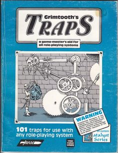 """101 traps for use with any roleplaying system"", the first of the Grimtooth's traps books, consisting of deadly (and usually silly) traps for use with any Fantasy RPG. I fell for the ""hit the dirt"" trap played by our cruel, cruel DM."