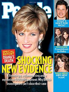 photo | Death, Gripping News Stories, Princess Diana Cover, The British Royals, Katie Holmes, Nick Lachey, Paula Abdul, Princess Diana, Tom Cruise