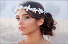 Swarovski Crystal Bridal Floral Crown- Zoe, custom made doloris petunia.com or etsy