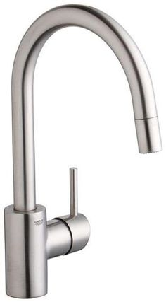 Grohe 32 665 DC1 Concetto Single-Lever Kitchen Faucet with Silkmove Ceramic Cartridge, SuperSteel at PlumberSurplus.com