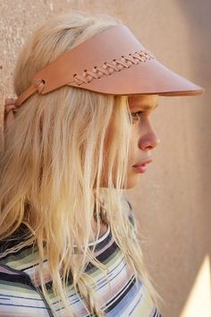 All Hands Leather Visor - Urban Outfitters