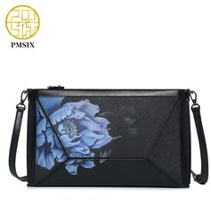 Aliexpress.com : Buy Pmsix Printing Flower Leather Envelope Bag Cattle Split Leather Brand Small Women Shoulder Bag Fashion Evening Clutch Bag 520006 from Reliable evening clutch bags suppliers on Pmsix Official Store