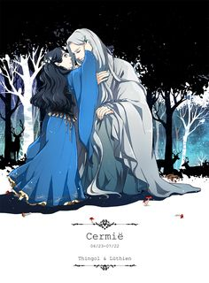 Тингол и Лутиэн Daughters - Thingol and Luthien by akato3