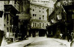 Doyers Street, Chinatown, NYC, 1890s.
