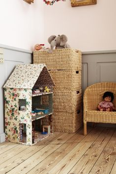 dolls house idea...fabric covered.
