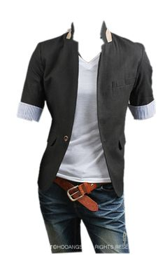 QualityUC Mens American Clothes Fashion Short Sleeve Suit Jacket