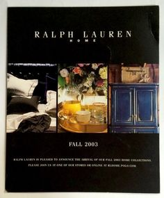 Ralph Lauren Home Archives, Unknown collection, Catalog, Fall, 2003