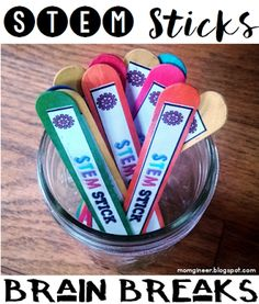STEM Sticks for Brain Breaks - Set up a simple STEM station! | STEM Activities for Kids