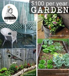 How To Grow A Dream Garden On $100 Per Year - Empress of Dirt - For when I have a home garden.