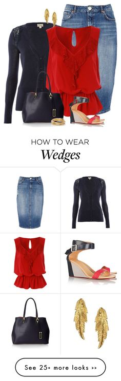 """Skirt and wedges"" by ginga1203 on Polyvore"