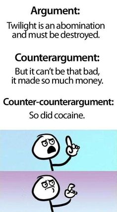 Countering counter arguments