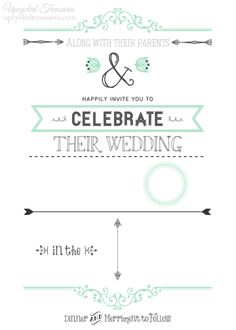 DIY Wedding Invitations I Upcycled Treasures - DIY wedding invitations with a FREE wedding invitation template! #wedding #wedding_invite #myweddingnow.com #Tow_wedding