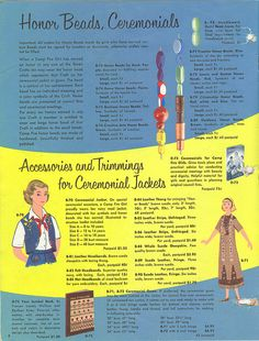 Camp Fire Girls Catalog 1955 by contrarymary, via Flickr