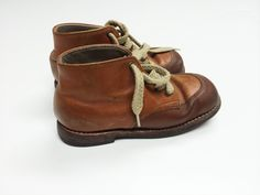Antique leather child's lace-up boots