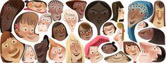 Google 国際女性デー(nternational Womens Day)でいろんな女性の顔のロゴに!