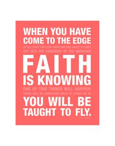 Inspiration: Faith