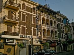Old Buildings in Baghdad st, El-Korba, Heliopolis, Cairo, Egypt