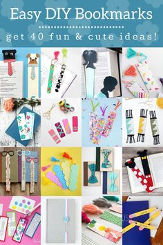 Get step by step tutorials for making your own bookmarks! Both kids and adults will love making these DIY bookmarks. Perfect for beginning crafters! Cute Bookmarks, Paper Bookmarks, How To Make Bookmarks, Ribbon Bookmarks, Tassel Bookmark, Bookmark Craft, Leather Bookmark, Craft Stick Crafts, Diy Crafts For Kids