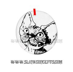 Custom Cat Ornament Devon Rex Christmas Ornament Breed Cat Ornament Personalized Cat Holiday Gift.  Gifts for Pet lovers. by SimplySphynx#catcostumes #sphynxcats #sphynxcatclothes #spookykitty #gothickitty #etsy #etsygifts #etsyseller