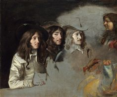 Le Nain Brothers - unfinished group portrait Three Men and a Boy [c.1647-48]