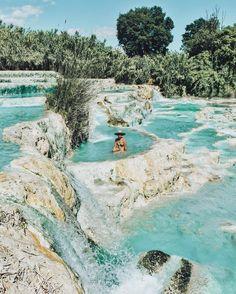 saturnia hot springs, tuscany