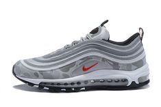 2018 Purchase Nike Air Max 97 Light Grey Red White | Air Max