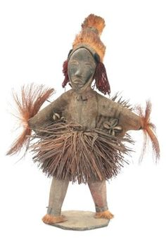African Dan stilt dancer 'Gle Gbee' doll figure from Cote D'Ivoire (African Tribal Collection)