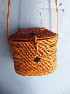 Ethnic Basket Cross Body Structured Purse by SouthwestVintage, $25.00