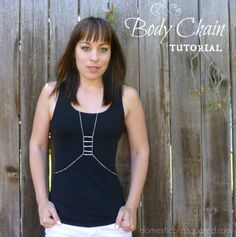 Simple Body Chain Tutorial (Or 'The Coolest Necklace Ever') Diy Jewelry Tutorials, Jewelry Making Tutorials, Jewellery Making, Body Chain Jewelry, Bijoux Diy, Cool Necklaces, Diy Clothing, Diy Necklace, Jewelry Patterns