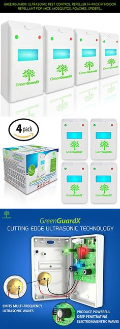 GreenGuardX Ultrasonic Pest Control Repeller (4-Pack)–Indoor Repellant for Mice, Mosquitos, Roaches, Spiders, Insects, & Rodents – Ecofriendly Bug Repeller–Children & Pet Safe, Non-Toxic #gadgets #plans #drive #parts #tech #shopping #products #storage #racing #camera #drone #kit #technology #fpv